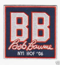 New York Islanders wore this patch after the retirement ceremony of Bob Bourne's