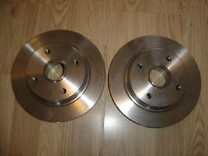 fits VOLVO 440 460 480 2x REAR BRAKE DISCS WITH HUB 1998-1997 none abs models
