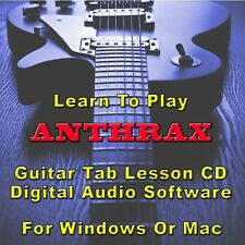 ANTHRAX Guitar Tab Lesson CD Software - 66 Songs