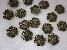 30 Bronze Coloured 13mm Filigree Bead Caps #bc270