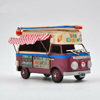 Jayland Handcrafted 1966 VW Deluxe Bus in Purple and white - Tinplate Model DEAL
