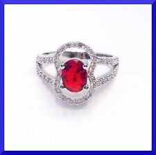 NEW RED GARNET 925 SILVER RING Size 7 FREE SHIPPING # 226