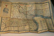 Rare 1930s U.S. Navy Ymca Map of Shanghai China Socony Motor Gasoline Ads