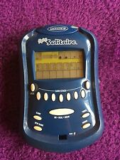 Flip Top Lighted Solitaire Electronic Blue Hand Held Game Radica 2003