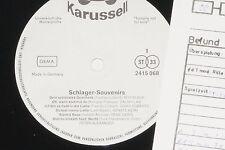 SCHLAGER-SOUVENIRS (Connie Francis...) LP 1972 Karussell Promo Archiv-Copy mint