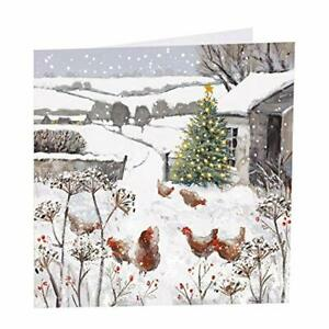 Art Beat Chicken Christmas Cards - All is bright - Pack of 6 in aid of Shelter