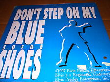 "Elvis Presley 1997 "".Blue Suede Shoes"" New Tin Sign 15"" Square"