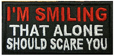 SMILING THAT ALONE SCARE YOU TACTICAL MORALE HOOK PATCH