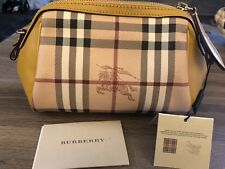 Burberry Women's Horseferry Check and Leather Mini Blaze bag Gold Freesia