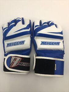 RevGear Men's MMA Gloves Krav Boxing Combatives - Barely Used Blue White Large