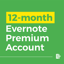 Brand New 1 Year Premium Evernote Account $12.65