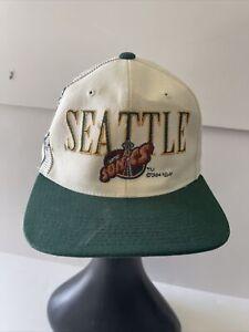 Seattle Sonics Snapback Hat Vintage 1994 Logo Athletic RARE Sports Specialties