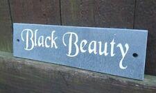 More details for deep engraved natural slate pet name stable den cage horse dog sign plaque