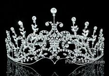 Bridal Wedding Sparkling Pageant Swarovski Crystal Tiara Crown