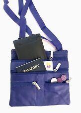 """Dark Blue Women's  Leather Cross Body Bag Satchel Messenger Bag 48"""" Strap"""