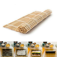 DIY Sushi Rolling Maker Bamboo Material Roller Mat Kitchen non-stick 24*24cm