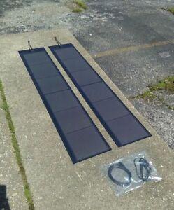 90 Watt - Ascent Flexible Solar Panels set up for Torqeedo - Travel 503/1003/110