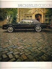 Chrysler Cordoba 1981 USA Market Sales Brochure LS
