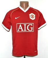 MANCHESTER UNITED ENGLAND 2006/2007 HOME FOOTBALL SHIRT JERSEY NIKE SIZE S