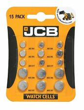 15 Assorted JCB Watch Cell Batteries Mixed Pack 3 X 5 Most Popular Sizes