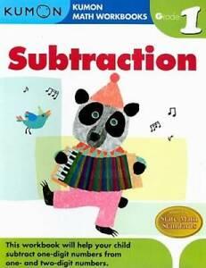 Grade 1 Subtraction (Kumon Math Workbooks) - Paperback - GOOD