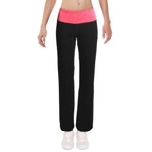 Ideology Womens Black Colorblock Stretch Comfy Yoga Pants M BHFO 1903