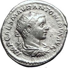 ELAGABALUS 218AD Rome Silver Antoninianus Ancient Roman Coin FIDES Eagle i64690