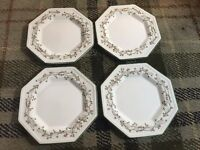 Set Of 4 Johnson Brothers Eternal Beau Side Plates - Good Condition