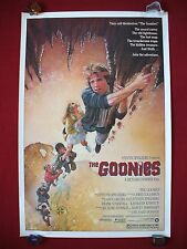 THE GOONIES * 1985 ORIGINAL MOVIE POSTER 1SH SLOTH CHUNK CLASSIC HALLOWEEN NM-M