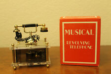 Vintage Revolving Telephone Music Box Movement Box Metal We've Only Just Begun~