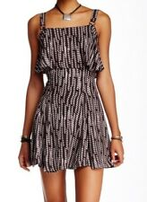 Free People Womens Dress Size 10 $108 Paper Flowers Black Printed Popover A-Line