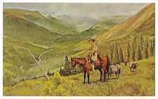 Beaver Valley Mountain Men Glacier N'tl Park Byron Wolfe Vintage Postcard 1964