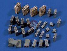 Verlinden 1/35 German 10.5cm Artillery Baskets, Tool & FlaK / PaK Ammo Boxes 569
