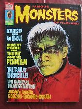 Famous Monsters # 110 Karloff In The Ghoul &Vincent Price in The Pit & Pendulum