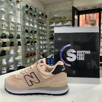 Scarpe Sneakers New Balance 574 Rosa Water donna estate 2021 Glitter nero