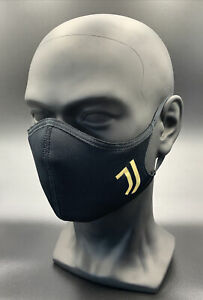 One (1) Adidas Juventus Face Mask Cover Authentic Adult Size Large Black Gold