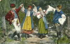 ukraine russia, Ukrainian Types, Ruthenian National Dance (1918) Postcard