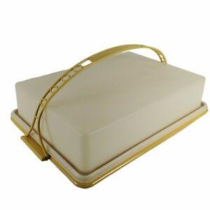 Tupperware Rectangular Sheet Cake Carrier/Taker 622 Harvest Gold