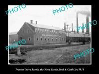 OLD LARGE HISTORIC PHOTO OF TRENTON NOVA SCOTIA, THE STEEL & COAL BUILDING c1910