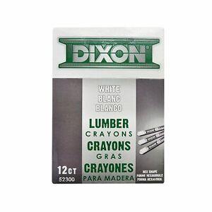 Dixon Ticonderoga 52300 White Lumber Crayons (Dozen)