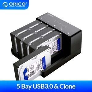 "2/5Bay USB 3.0 SATA HDD SSD Docking Station Offline Clone 2.5""/3.5"" Hard Drive"