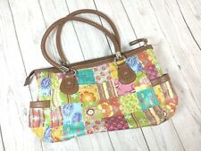 Relic Faux pebbled leather hobo tote purse bag shopper patchwork braided handle