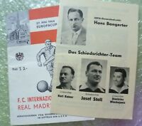 1964 European Cup FINAL Programme + Insert  INTER MILAN v REAL MADRID 27 May-Org