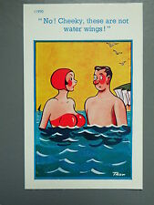 R&L Postcard: Brook Publishing, Trow 11990 Busty Woman Swimming Swimmer in Sea