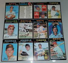 1971 topps baseball partial set lot of 240 diff w/ stars & Hi #s 100 Rose