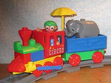 Lego Duplo Eisenbahn 5606: schöner Zirkus Zug Lok mit Waggon und Zubehör