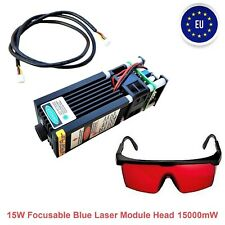 15WATT Focusable Blue Laser Module Head 15000mW For CNC Engraving Cutter Machine
