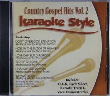 Country Gospel Hits Volume 2 Christian Karaoke Style New Cd+G Daywind 6 Songs