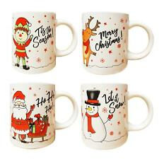 Christmas Mugs Set of 4 Festive Party Xmas Mugs Home Kitchen Tea Coffee Cups