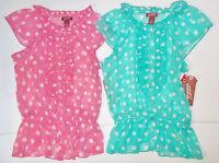 Arizona Jean Co. Girls Sheer Sleeveless Top Shirt Blue or Pink Size 8 Med NWT
